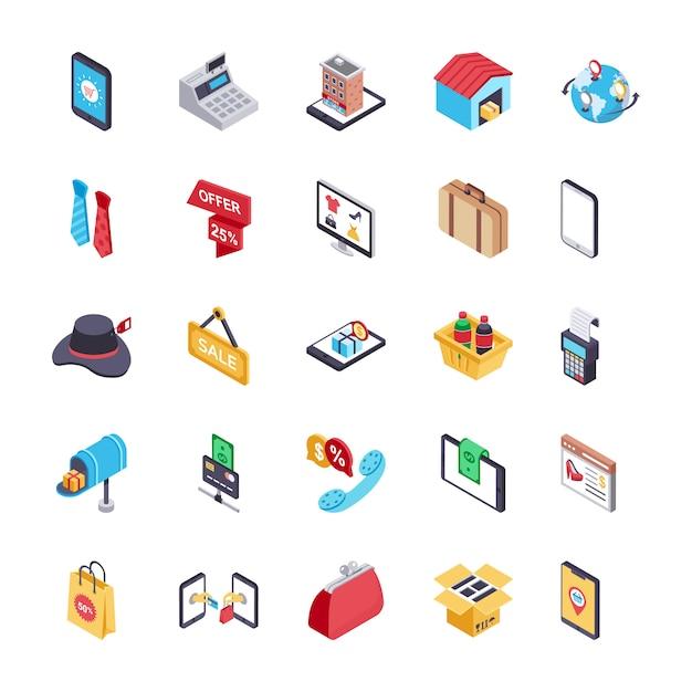 Pakiet Ikon Zakupów I Płatności Online Premium Wektorów