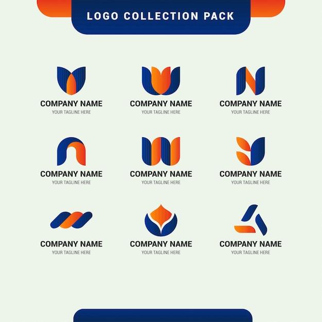 Pakiet Kolekcji Logo Na Rozpoczęcie Działalności Firmy Premium Wektorów