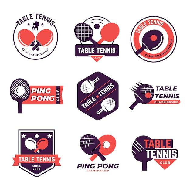 Pakiet Logo Do Tenisa Stołowego Darmowych Wektorów