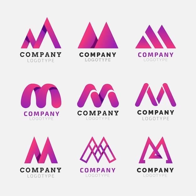 Pakiet Logo M. Premium Wektorów