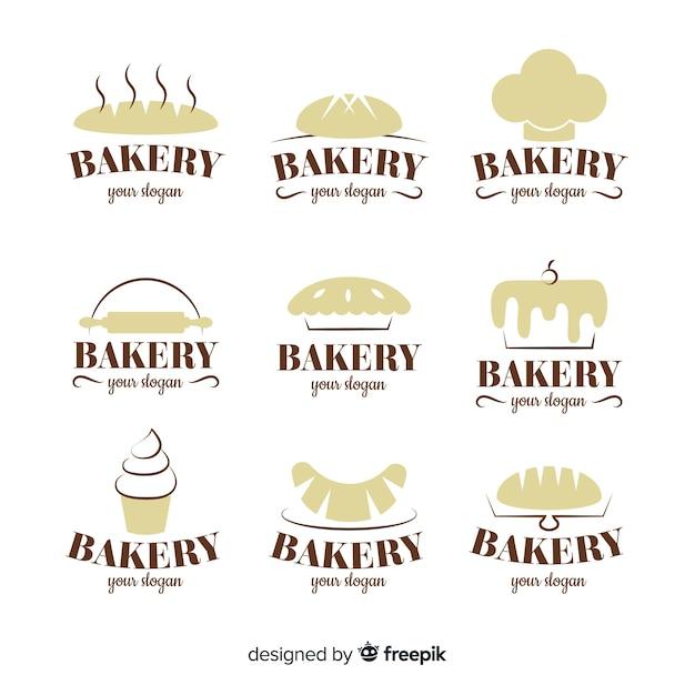 Pakiet logo sylwetka piekarni Darmowych Wektorów