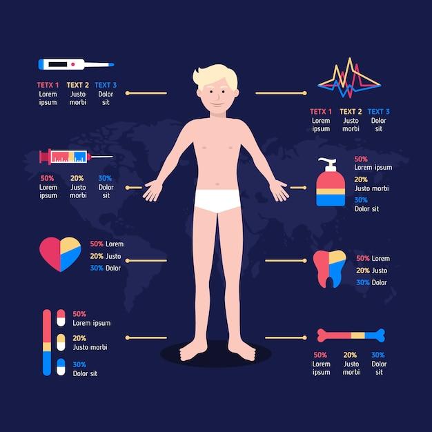 Pakiet Medyczny Infographic Darmowych Wektorów