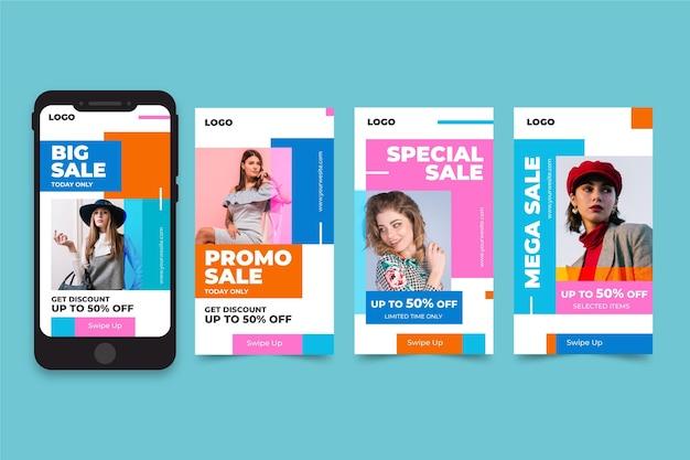 Pakiet Opowiadań Na Instagramie Na Sprzedaż Modową Darmowych Wektorów