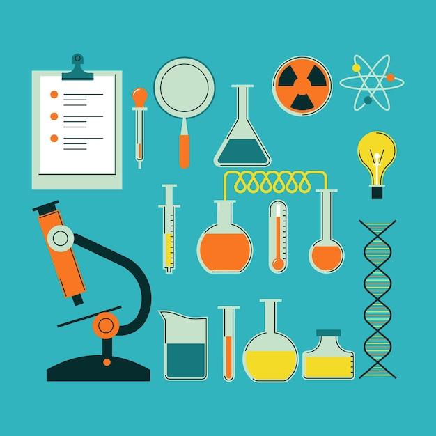 Pakiet Przedmiotów Do Laboratorium Naukowego Darmowych Wektorów