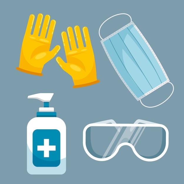 Pakiet Sprzętu Do Ochrony Przed Wirusami Darmowych Wektorów