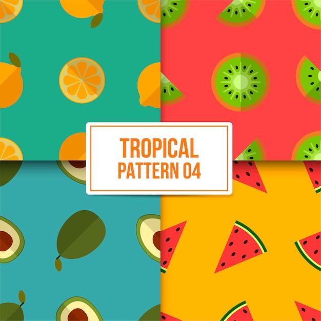 Pakiet Tropikalny Wzór Premium Wektorów