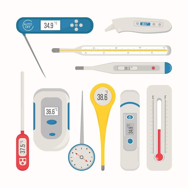 Pakiet Typów Termometrów Darmowych Wektorów