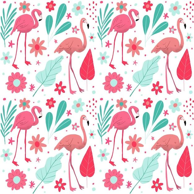 Pakiet Wzorów Flamingów Darmowych Wektorów