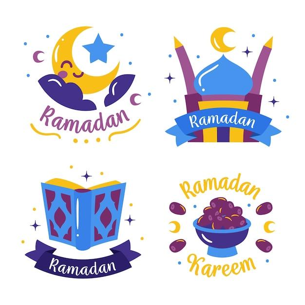 Pakiet Znaczków Ramadan Darmowych Wektorów
