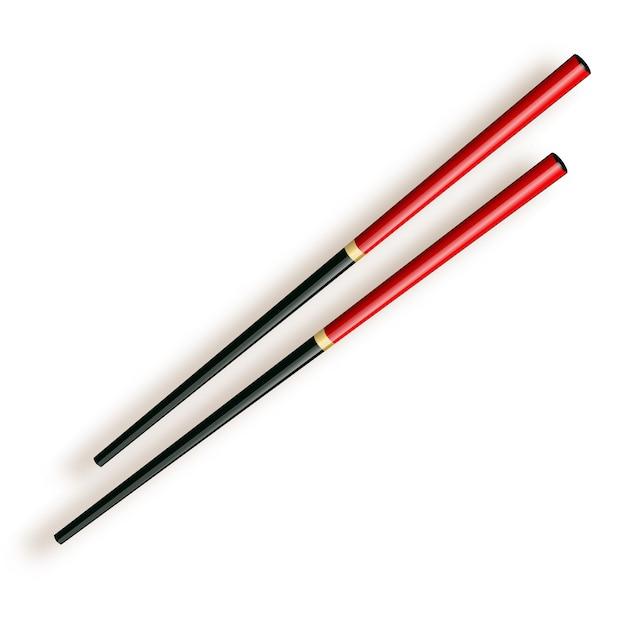 Pałeczki, Drewniane Pałeczki Na Białym Tle Premium Wektorów