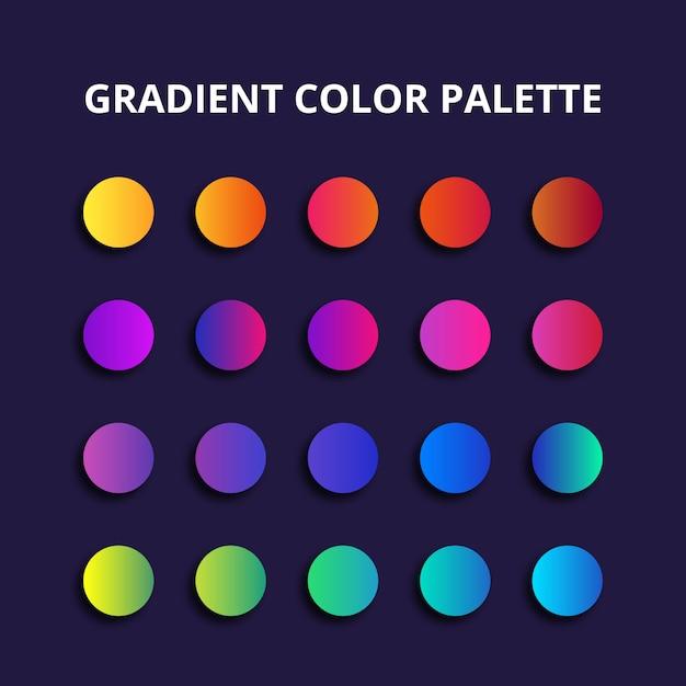 Paleta Kolorów Gradientu Premium Wektorów