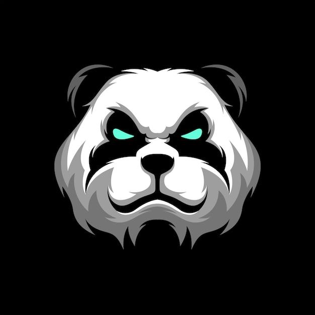 Panda Head Logo Gaming Mascot Sport Szablon Premium Wektorów
