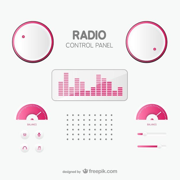 Panel Sterowania Radiowego Darmowych Wektorów