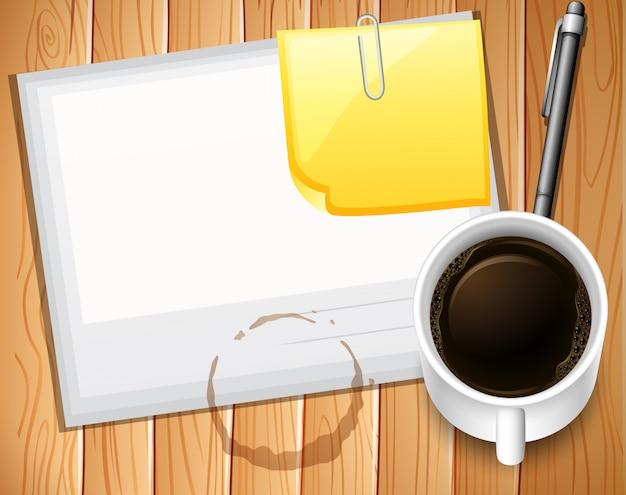 Papier I Kawa Premium Wektorów