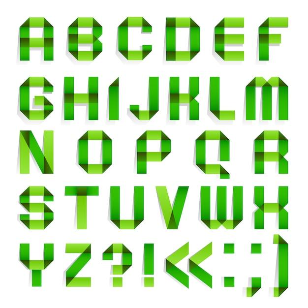 Papier składany alfabet Premium Wektorów