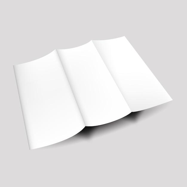 Papierowa broszura pusta korporacyjna Premium Wektorów