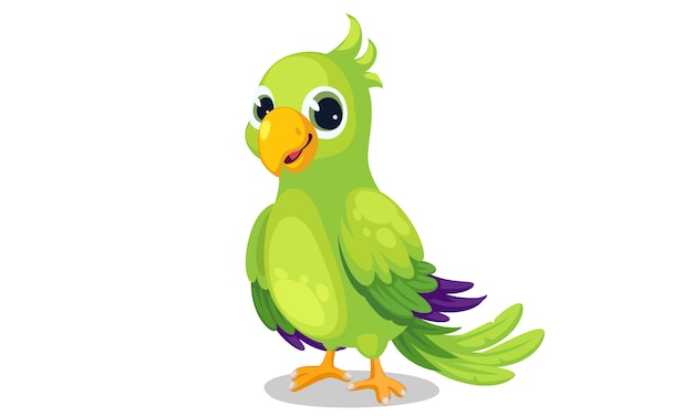 Papuga Kreskówka Wektor Ilustracja Premium Wektorów