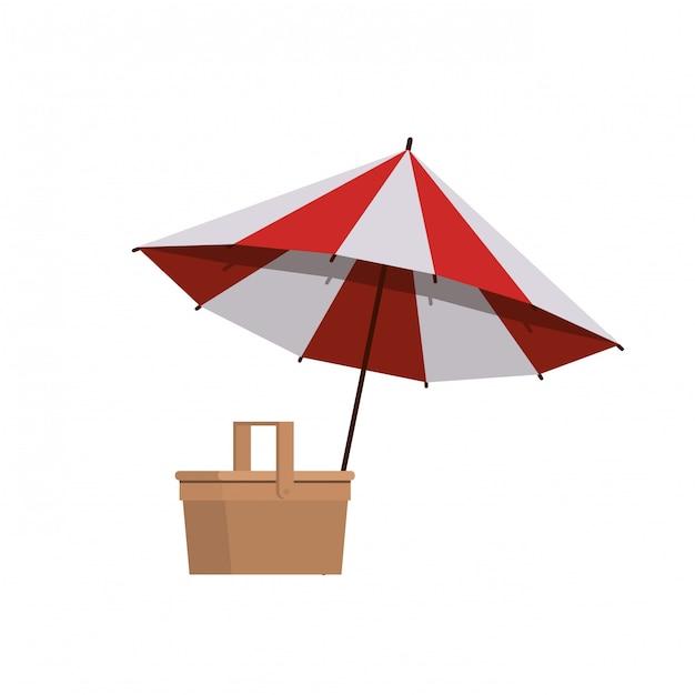 Parasol na lato w paski Darmowych Wektorów