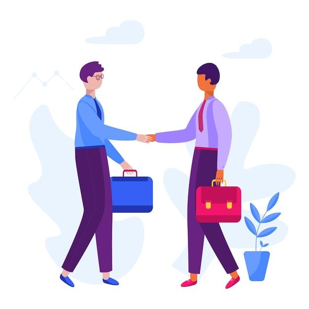 Partnerstwo Biznesmen Premium Wektorów
