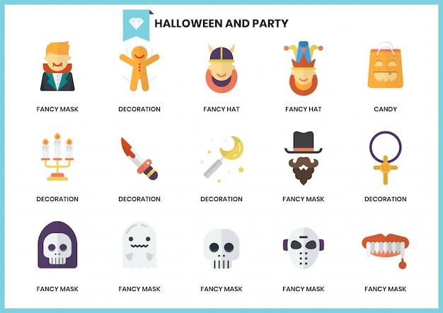 Partyjne ikony ustawiać dla biznesu Premium Wektorów