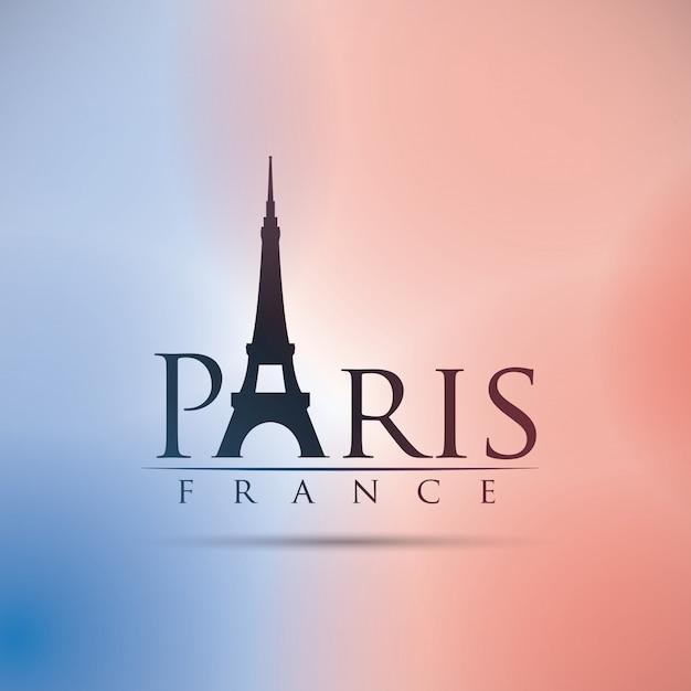 Paryż projekt, wektorowa ilustracja. Premium Wektorów