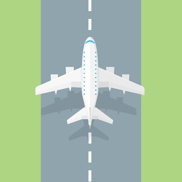 Pas Startowy Samolotu. Modna Ikona Samolotu Premium Wektorów