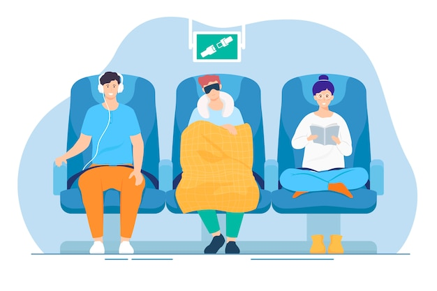 Pasażerowie W Samolocie Darmowych Wektorów
