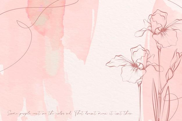 Pastelowe Kolory Kwiatów Tła Darmowych Wektorów