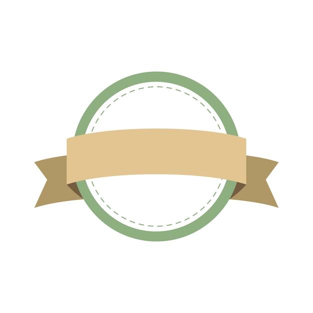 Pastelowe rama odznaka projekt wektor Darmowych Wektorów