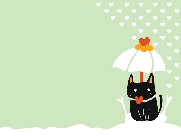 Pastelowe Tapety Z Miejsca Kopiowania Samotny Czarny Kot Siedzi Na