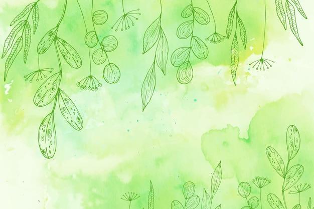 Pastelowe Tło W Proszku Z Ręcznie Rysowane Elementy Darmowych Wektorów
