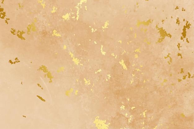 Pastelowy Kolor Tła Z Teksturą Złotej Folii Darmowych Wektorów