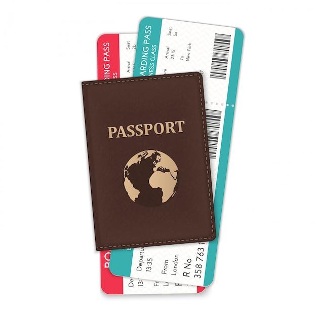 Paszport Z Kartami Pokładowymi Premium Wektorów
