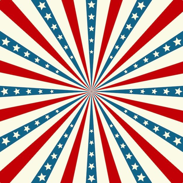 Patriotyczne Tło Amerykańskiego Dnia Niepodległości Premium Wektorów