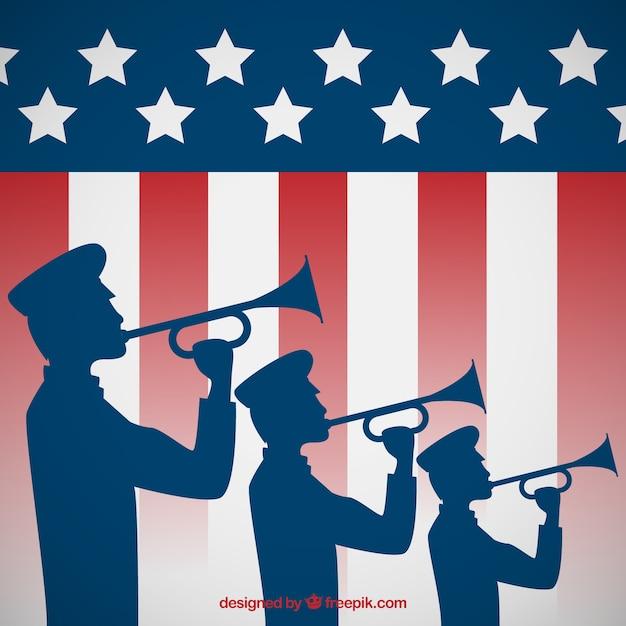 Patriotyzm Trąbka Salute Darmowych Wektorów