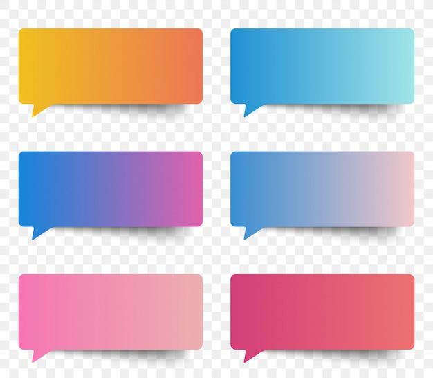 Pęcherzyki wiadomości kolor gradientu naklejki. Premium Wektorów