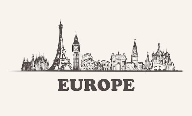Pejzaż Europy Premium Wektorów