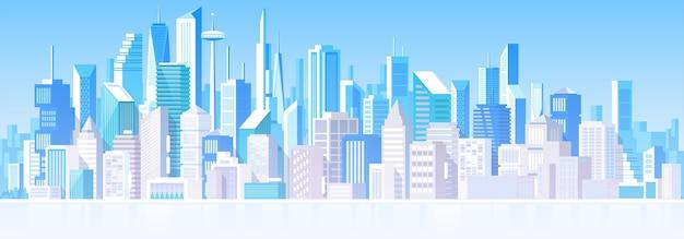 Pejzaż Miejski Z Różnymi Budynkami. Domy Prywatne, Domek. Poza Premium Wektorów