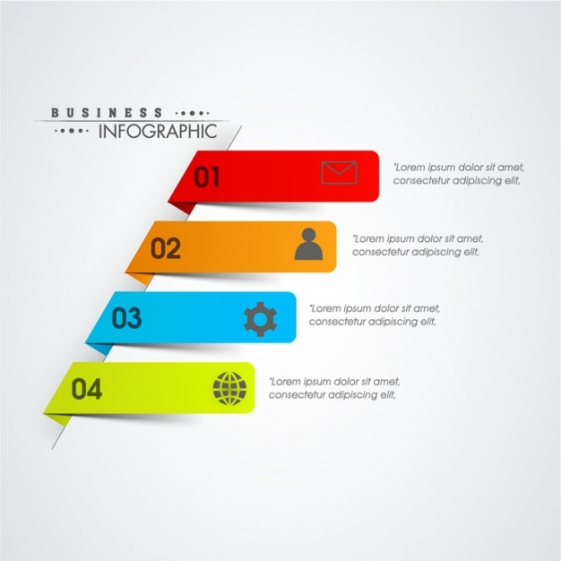 Pełna infografika szablon z 3d transparenty Premium Wektorów