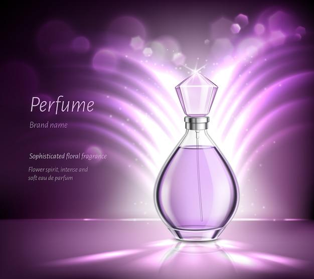 Perfumy Reklamowe Realistyczny Skład Darmowych Wektorów