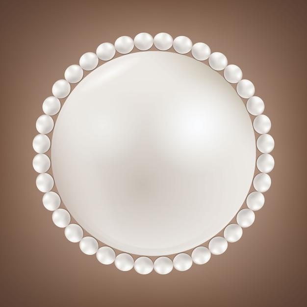 Perłowe koraliki glamour Premium Wektorów