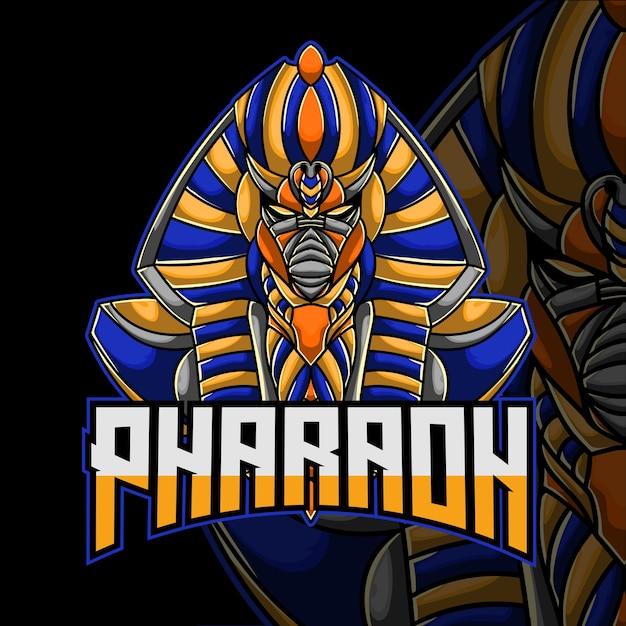 Pharaoh Logo Esport Premium Wektorów