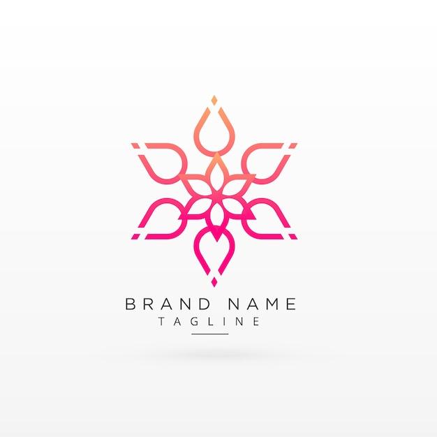 Piękny kwiat logo koncepcji projektu Darmowych Wektorów