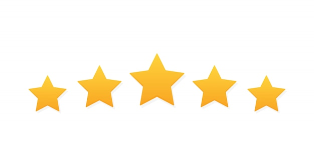 Pięć Gwiazdek Ocena Produktu Przez Klientów Premium Wektorów