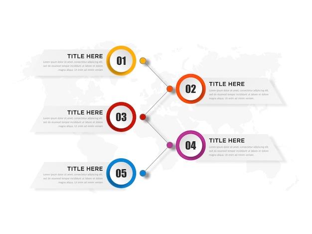 Pięć Punktów Streszczenie Plansza Element Z Liczbą Premium Wektorów