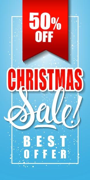 Pięćdziesiąt Procent świątecznej Sprzedaży Napis Darmowych Wektorów