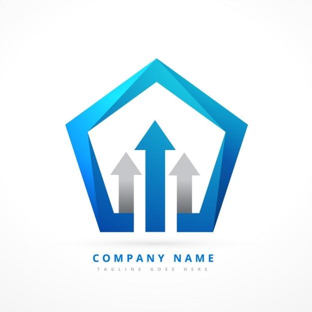 Pięciokątny szablon logo Darmowych Wektorów