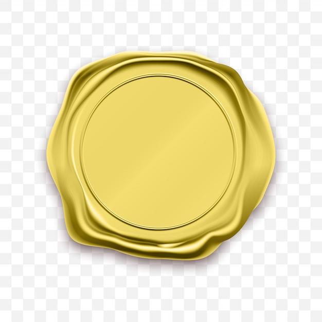 Pieczęć Woskowa Pieczęć Złota Pieczęć Retro Etykiety Premium Wektorów