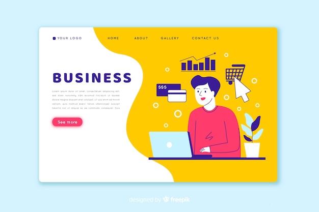Piękna biznesowa strona docelowa Darmowych Wektorów