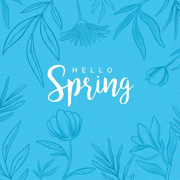 Piękna Cześć Wiosna Darmowych Wektorów